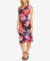 CeCe Floral-Print Scuba Bodycon Dress