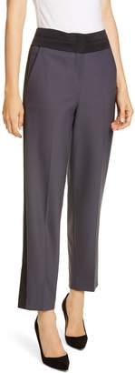 Rebecca Taylor Tailored by Contrast Detail Gabardine Trousers