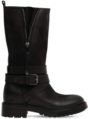 Strategia 80MM LEATHER BIKER BOOTS