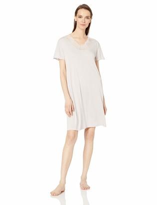 Hanro Women's Jolina Short Sleeve Gown