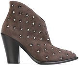 Giuseppe Zanotti Design stud embellished ankle boots - women - Leather/Calf Suede/plastic - 40