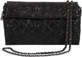 One Kings Lane Vintage Chanel Black Sequin Cross-Body Flap Bag