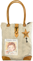 Vintage Addiction Tan 'Farmer's Wife' Baby Canvas Tote