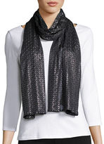 Cejon Metallic-Foil Textured Evening Wrap
