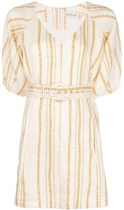 Nicholas Vintage Chain Print Belted Dress