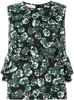 Marni Poetry Flower ruffled shell top