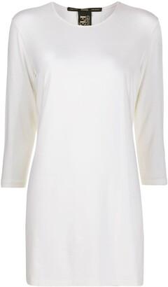 Gianfranco Ferré Pre-Owned 1990s three-quarter sleeves T-shirt dress