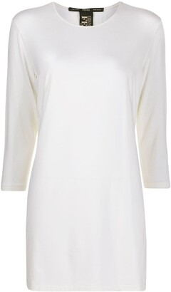 Gianfranco Ferre Pre Owned 1990s three-quarter sleeves T-shirt dress