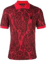 Alexander McQueen lace paisley print polo shirt
