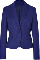 HUGO Dark Purple Wool Stretch Afiraly One Button Jacket