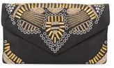 Ash Zuma Studded Leather Clutch