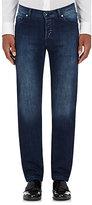 Marco Pescarolo Men's Cotton-Cashmere Slim Jeans-NAVY