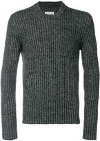 Maison Margiela ribbed crew neck sweater - men - Polyamide/Wool - S