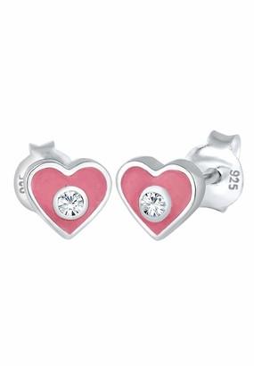 Elli Children's 925 Sterling Silver Heart Earrings