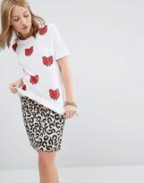 Love Moschino Bow Print T-shirt