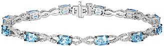 LeVian Le Vian 14K 5.33 Ct. Tw. Diamond & Sea Blue Aquamarine Bracelet