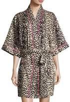 BedHead Wild Thing Short Kimono Robe, Leopard