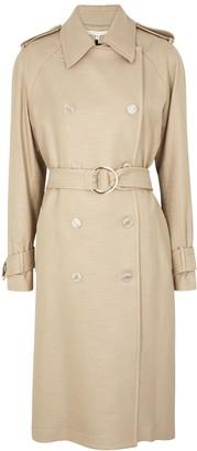 Veronica Beard Eloisa sand woven trench coat