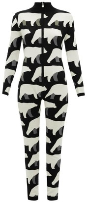 Perfect Moment Bear-print Merino Wool Jumpsuit - Womens - Black