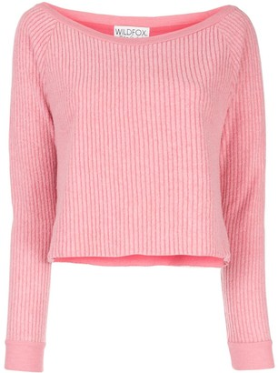 Wildfox Couture Tilda cropped jumper