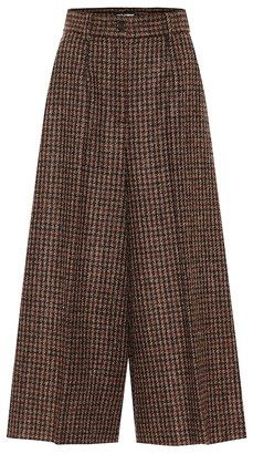 Dolce & Gabbana Checked mid-rise cropped wool pants
