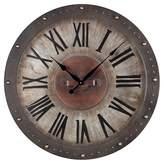 Lazy Susan Metal Outdoor Wall Clock Bronze ;