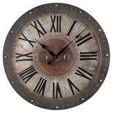 Lazy Susan Metal Roman Numeral Outdoor Wall Clock