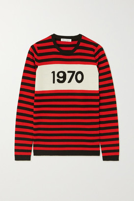 Bella Freud 1970 Striped Merino Wool Sweater - Red