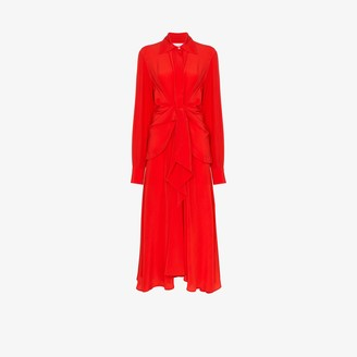 Victoria Beckham Tie Waist Shirt Dress