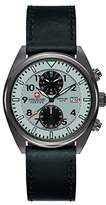 Swiss Military Men's SM34302AEU/H04S Quartz Watch with Grey Dial Analogue Display and Leather Strap