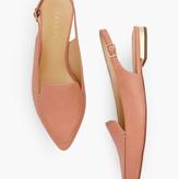 Talbots Poppy Pointed Toe Slingbacks - Pebbled Leather