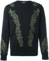 Alexander McQueen embroidered sweatshirt - men - Cotton - S