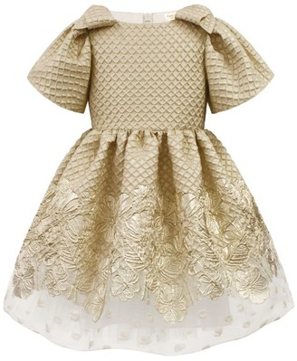 David Charles Waffle Bow Cap-Sleeve Dress (3-12 Years)