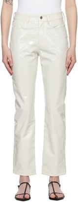 Simon Miller White Patent Vegan Leather Trousers