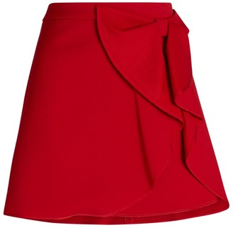 RED Valentino Bow-Detail Mini Skirt