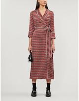 Claudie Pierlot Role paisley-print satin midi wrap dress