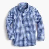 J.Crew Kids' Secret Wash shirt in navy gingham