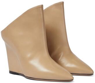 Isabel Marant Tykat 90 wedge leather mules