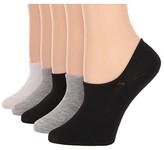 Steve Madden 5-Pack High Vamp Liners (Black) Women's No Show Socks Shoes
