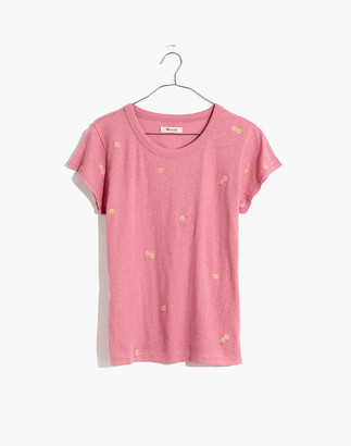 Madewell The Daisy Embroidered Perfect Vintage Tee