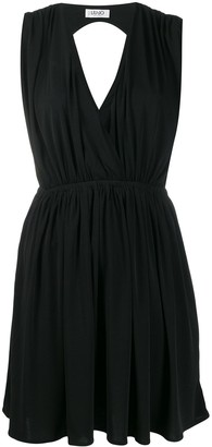 Liu Jo Ruched V-Neck Mini Dress