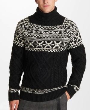 Karl Lagerfeld Paris Men's Fairisle Sweater
