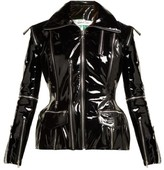 Richard Quinn Zip-embellished Patent-leather Jacket - Womens - Black