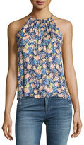 Rebecca Taylor Gigi Floral Sleeveless Pleated Tank Top