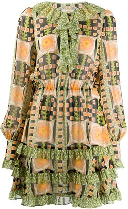 Temperley London All-Over Print Dress