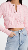 Thumbnail for your product : 525 Cotton Cropped Cable Cardigan