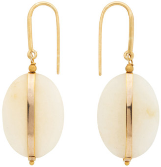 Isabel Marant Gold and Yellow Stone Earrings