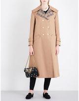 Gucci Appliquéd oversized cotton-blend trench coat