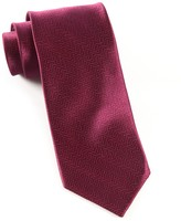 The Tie Bar Wine Herringbone Tie