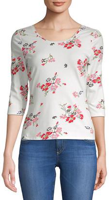 Rebecca Taylor Marguerite Floral-Print Jersey Top